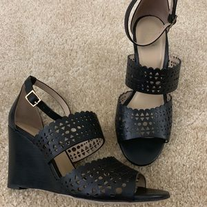 Tory Burch Cut Out Wedges